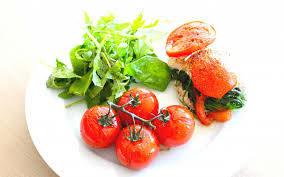 Tomaatje met spinazie